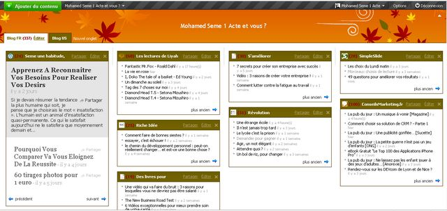 Netvibes feed rss page publique